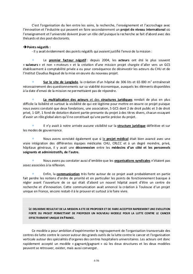 Rapport Experts Oncopole De Toulouse