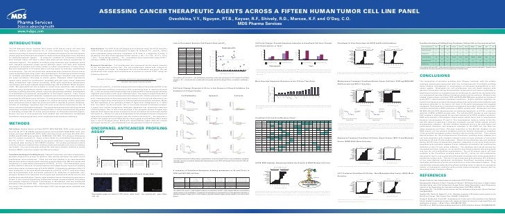 ASSESSING CANCER THERAPEUTIC AGENTS ACROSS A FIFTEEN HUMAN TUMOR CELL LINE PANEL                                          ...
