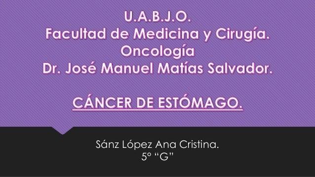 "Sánz López Ana Cristina. 5° ""G"""