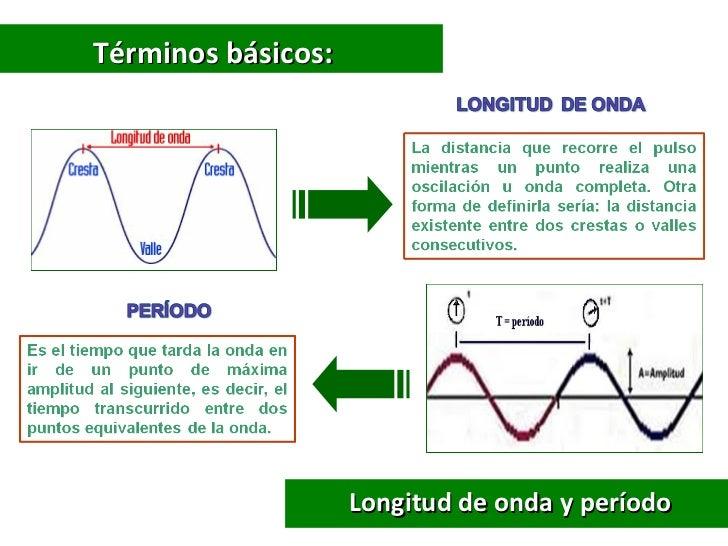 Términos básicos:                    Longitud de onda y período