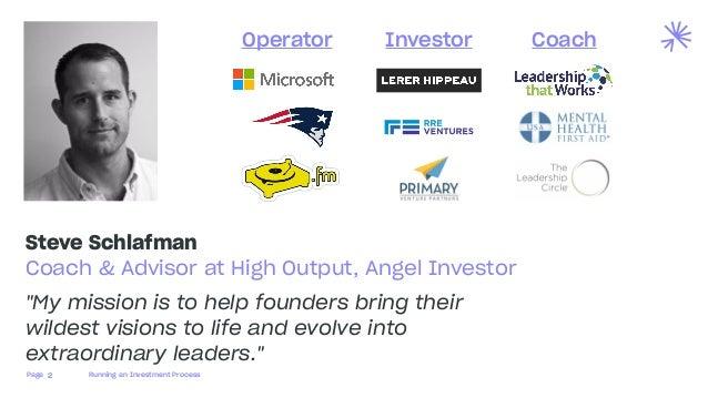 Running an Investment Process Slide 2