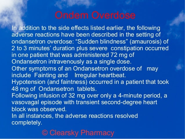 overdose you on ondansetron hcl can