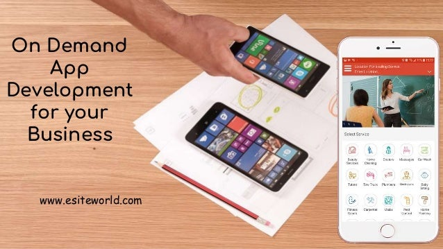 On Demand App Development for your Business On Demand App Development for your Business www.esiteworld.com