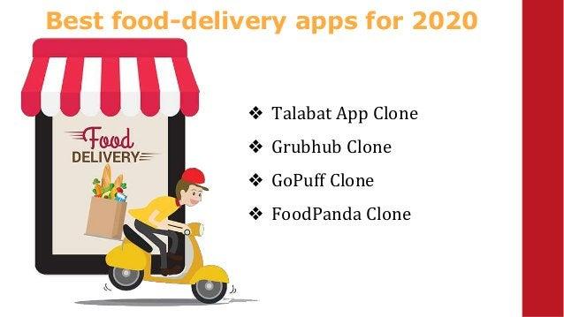 Best food-delivery apps for 2020 ❖ Talabat App Clone ❖ Grubhub Clone ❖ GoPuff Clone ❖ FoodPanda Clone