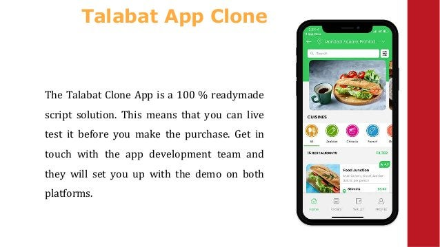 Talabat App Clone The Talabat Clone App is a 100 % readymade script solution. This means that you can live test it before ...