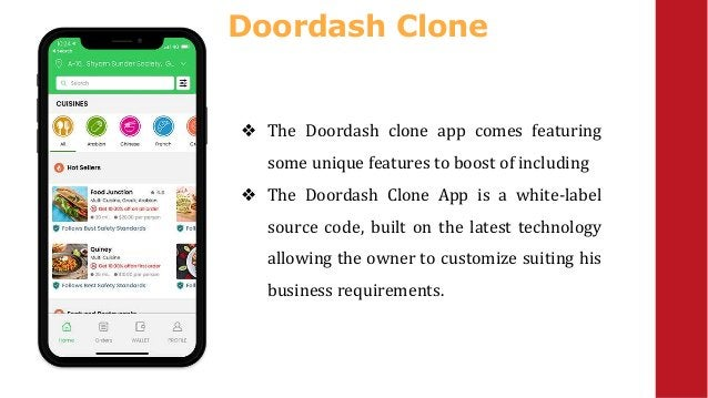 Doordash Clone ❖ The Doordash clone app comes featuring some unique features to boost of including ❖ The Doordash Clone Ap...