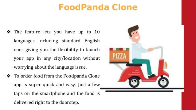 FoodPanda Clone ❖ The feature lets you have up to 10 languages including standard English ones giving you the flexibility ...