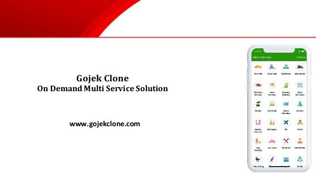 Gojek Clone On Demand Multi Service Solution www.gojekclone.com