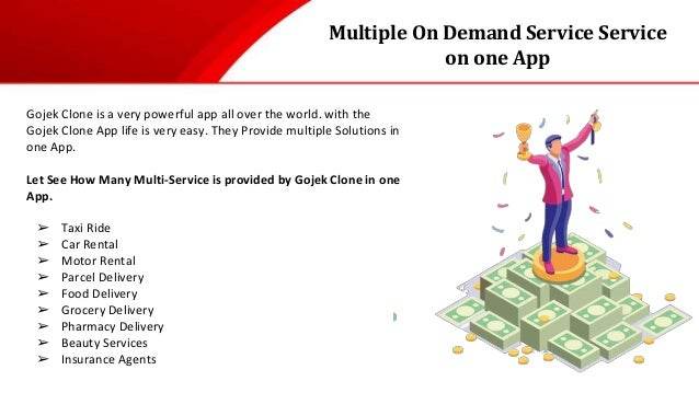 Multiple On Demand Service Service on one App Gojek Clone is a very powerful app all over the world. with the Gojek Clone ...