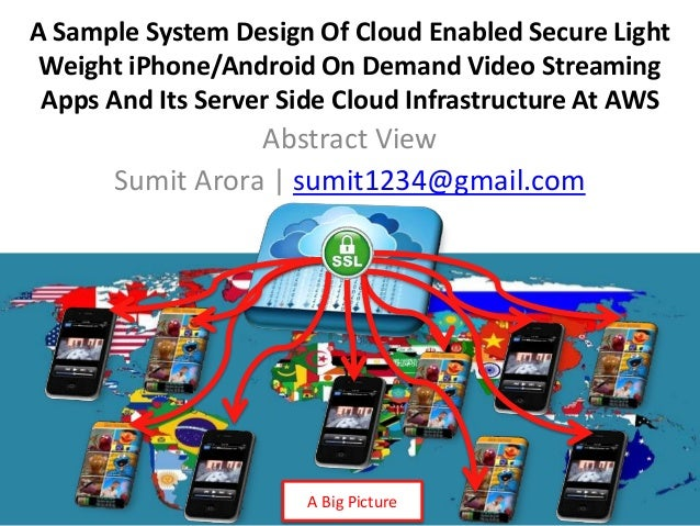 A Sample System Design Of Cloud Enabled Secure Light Weight iPhone/Android On Demand Video Streaming Apps And Its Server S...