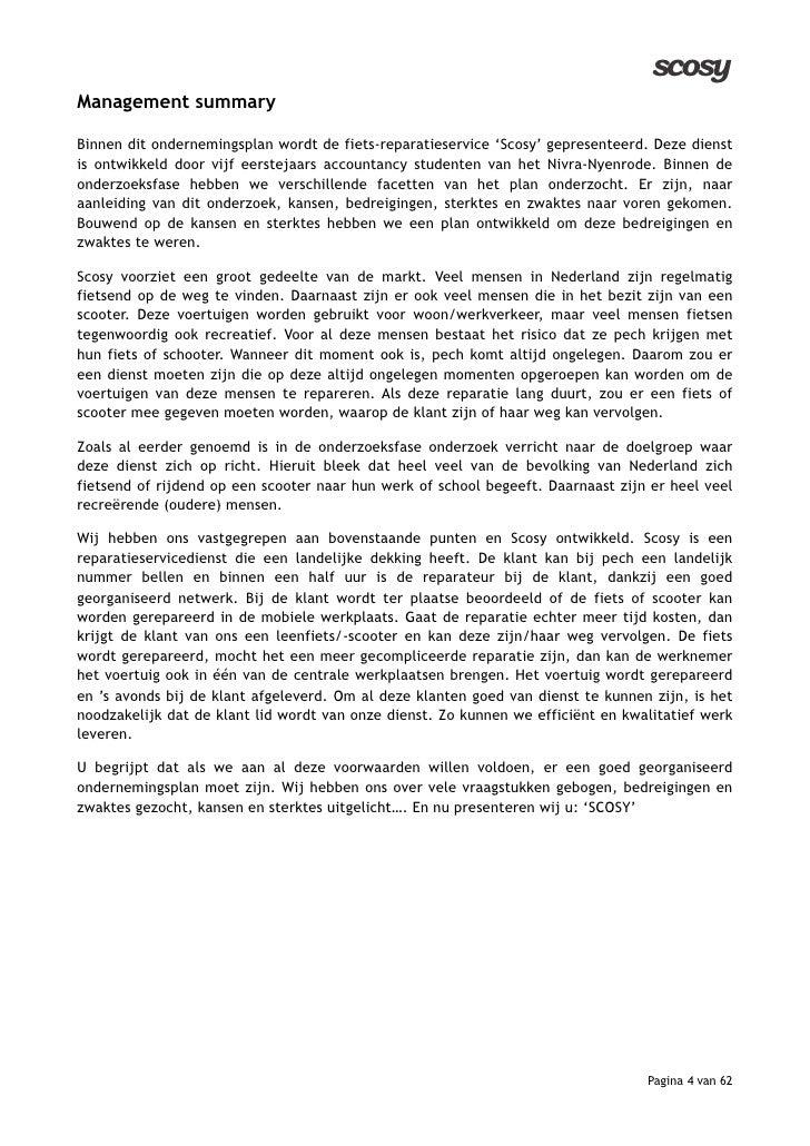 conclusie ondernemingsplan Beste ondernemingsplan Nyenrode 2009! conclusie ondernemingsplan
