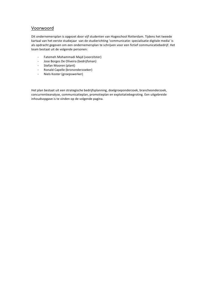 voorbeelden business plan schrijven van