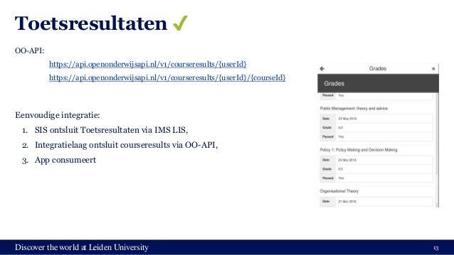 Discover the world at Leiden University Toetsresultaten ✔️ OO-API: https://api.openonderwijsapi.nl/v1/courseresults/{userI...