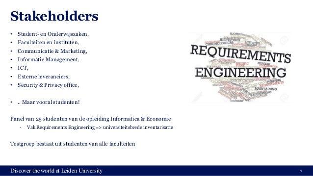 Discover the world at Leiden University Stakeholders • Student- en Onderwijszaken, • Faculteiten en instituten, • Communic...