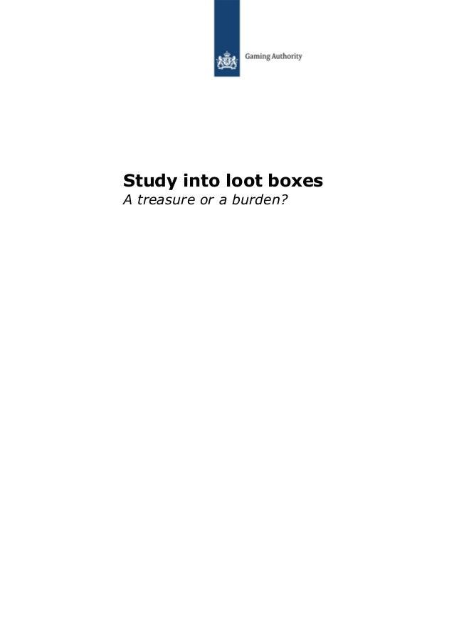 Study into loot boxes A treasure or a burden?
