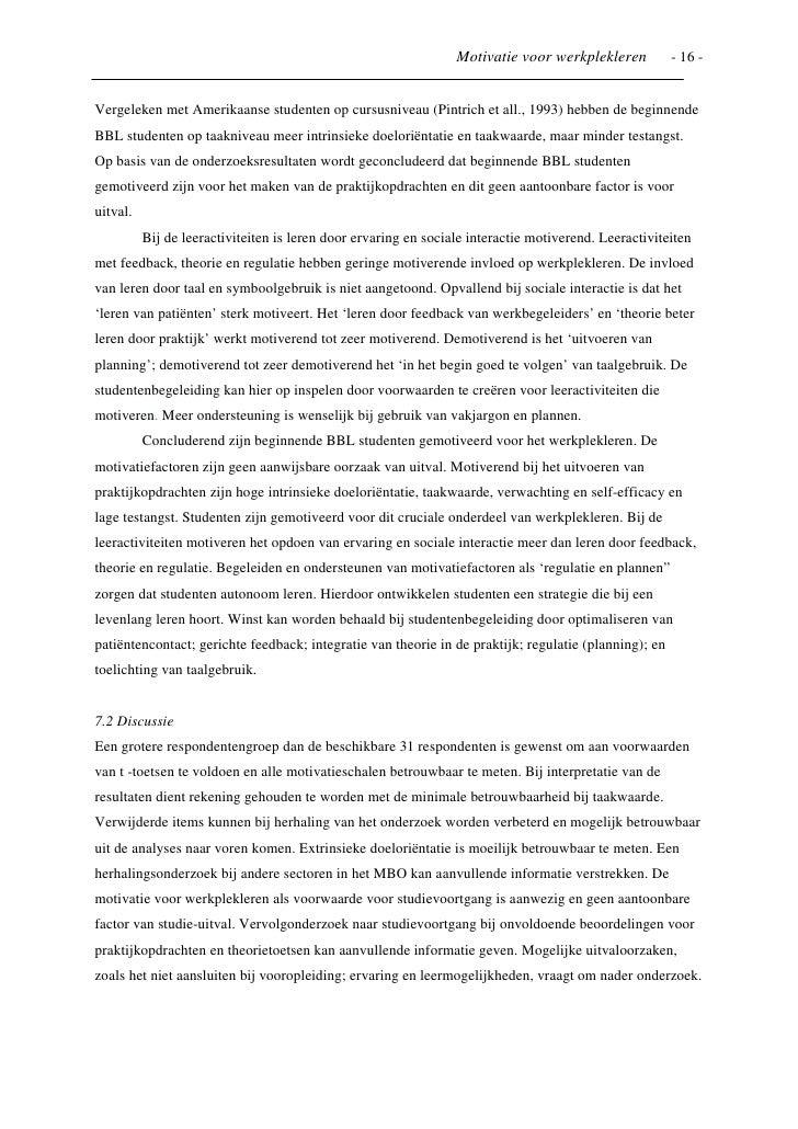 sollicitatiebrief bbl opleiding zorg voorbeeld Onderzoeksartikel naar motivatie bij werkplekleren sollicitatiebrief bbl opleiding zorg voorbeeld