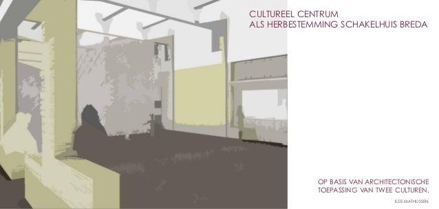 Cultureel centrumAls herbestemming schakelhuis breda             op basis van architectonische             Toepassing van ...