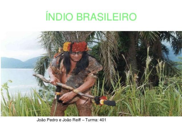 ÍNDIO BRASILEIRO João Pedro e João Reiff – Turma: 401