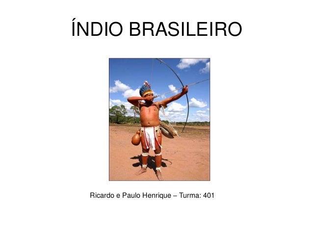 ÍNDIO BRASILEIRO Ricardo e Paulo Henrique – Turma: 401