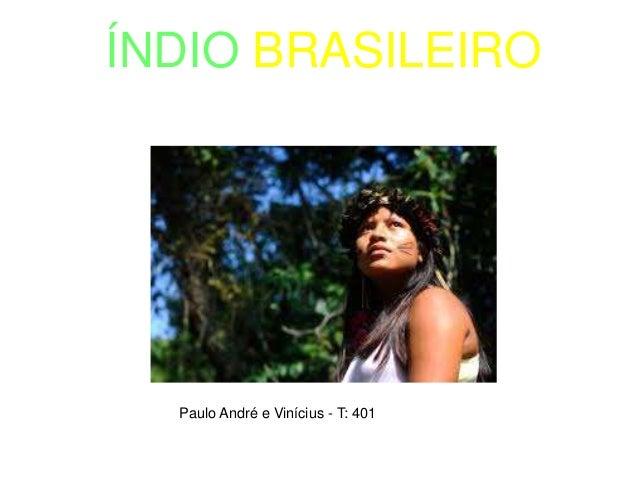 ÍNDIO BRASILEIRO Paulo André e Vinícius - T: 401