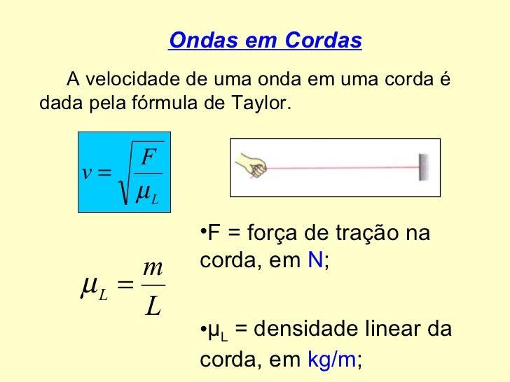 Fórmulas de ondulatória