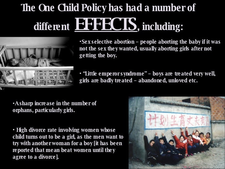 one child policy positive effects