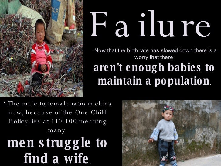 effects of one child policy Journalist mei fong tells fresh air that china's one-child policy drastically reshaped the country's demographic make-up china has 30 million more men than women, she says her book is one child.