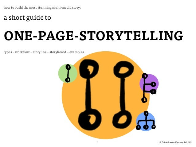 Ulf Grüner | www.ulfgruener.de | 2015 how to build the most stunning multi-media story: a short guide to ONE-PAGE-STORYTEL...