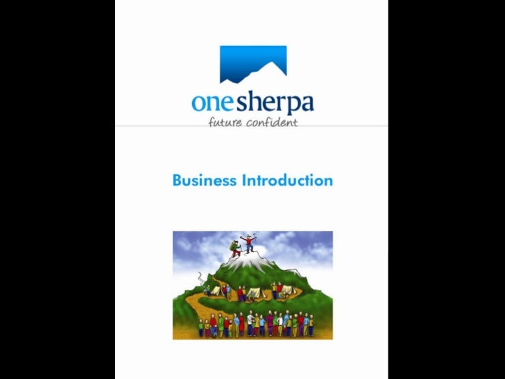 One Sherpa Business Intro