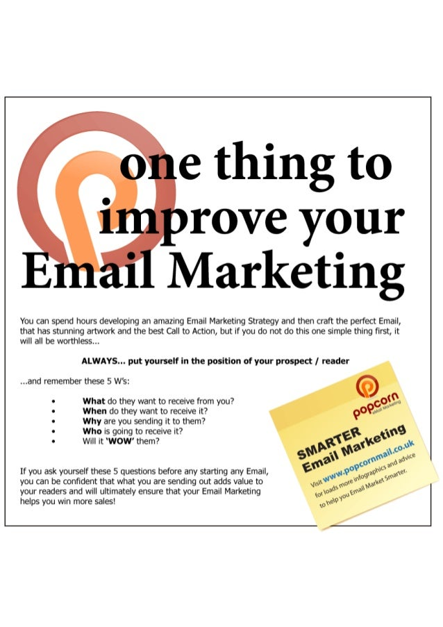 One thing you must do to improve your Email Marketing
