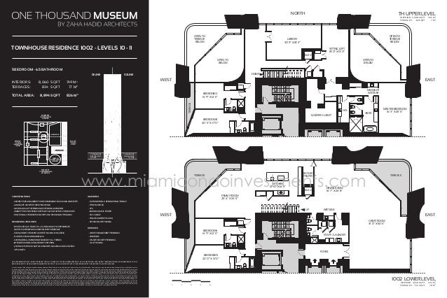One thousands museum floor plans for 1000 museum miami floor plans