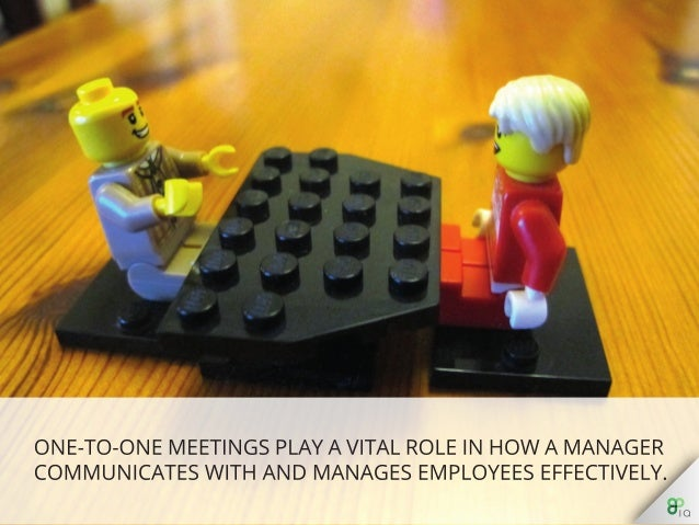 One-to-one meetings play a vital role in how a manager communicates with and manages employees effectively.