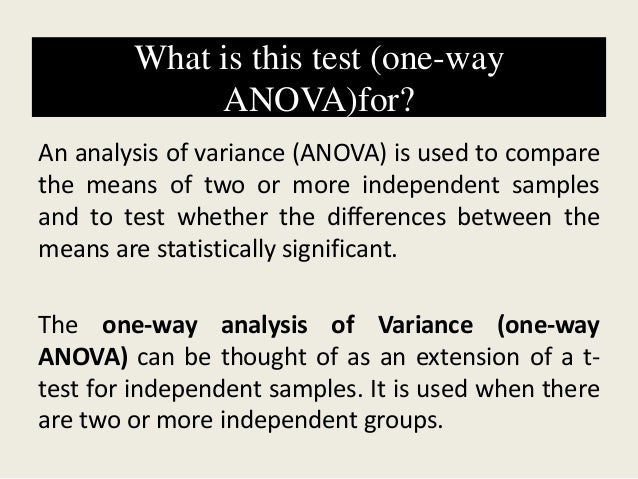 Lecture 9: one way anova between subjects ppt video online download.