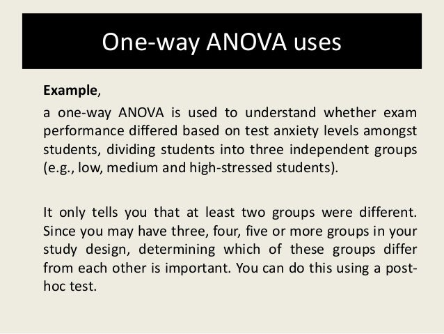 One way anova final ppt.