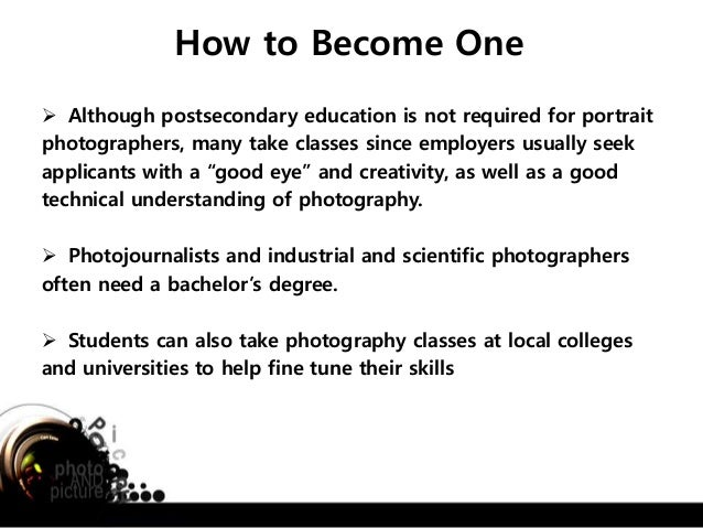 One alternative career that a student can take as a profession (Photo…