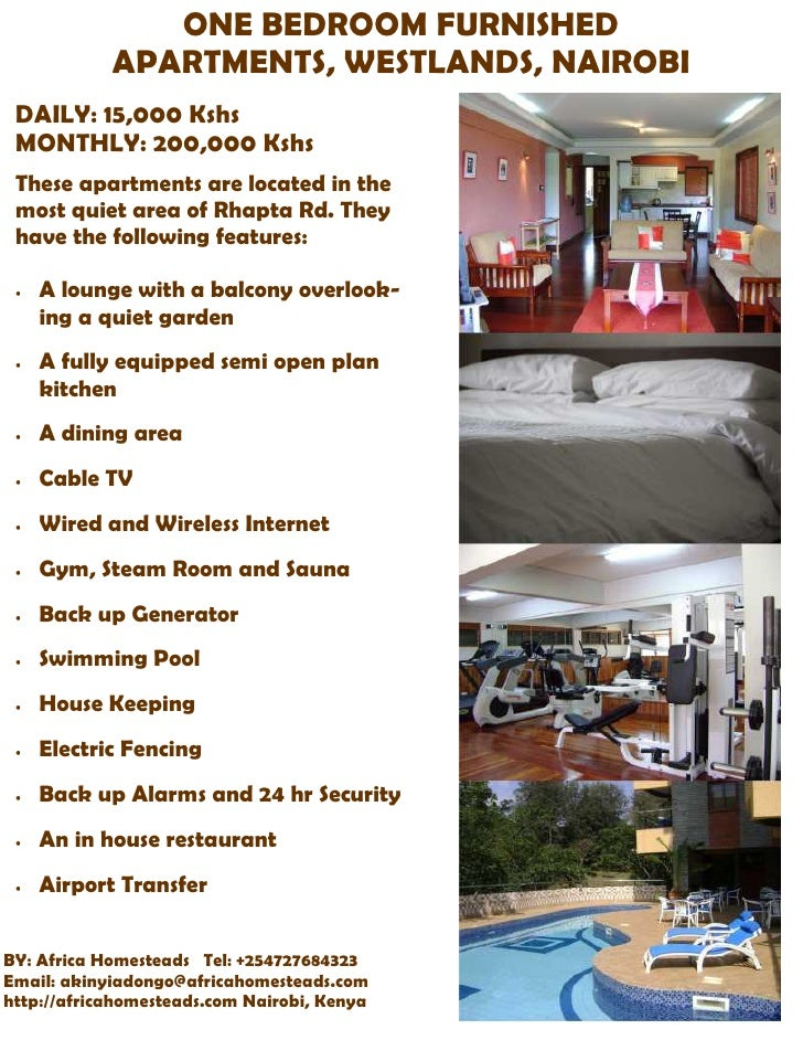 One Bedroom Furnished Apartments Westlands Nairobi