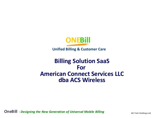Billing Solution SaaS                                     For                        American Connect Services LLC        ...