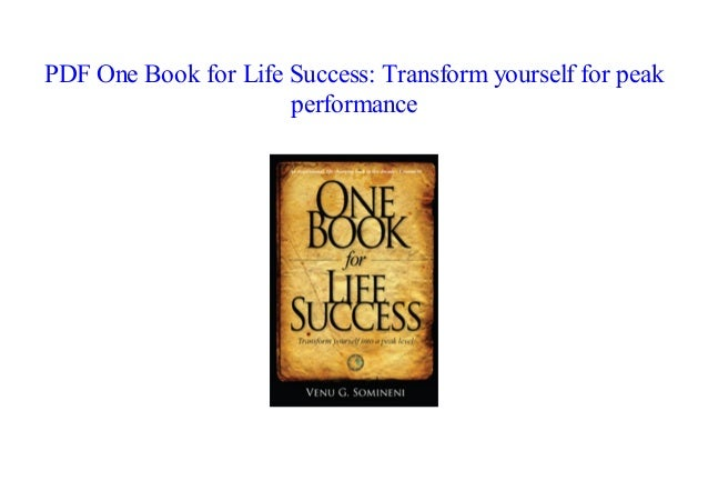 Success one life book for