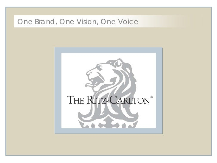 One Brand, One Vision, One Voice<br />