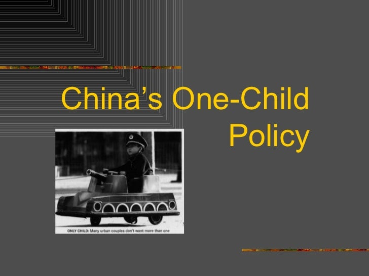 China's One-Child Policy