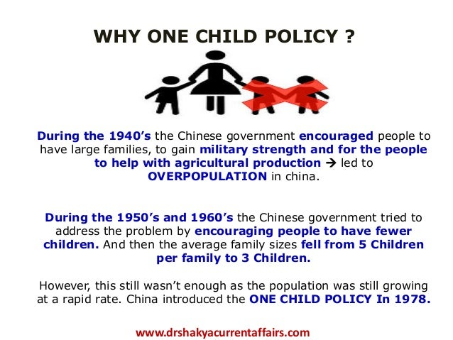 chinese government introduced one child policy to curb growing population What was the stated goal of china's one-child policy the original goal of the policy was to keep china's population to 12 billion in the year 2000, according to cai yong, a sociology professor at university of north carolina, and a fellow at the carolina population center.