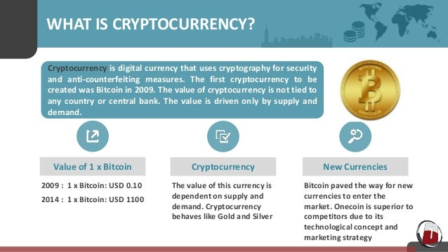 Value of cryptocurrency is dependent on market conditions