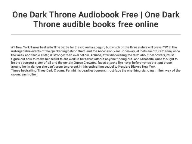 One Dark Throne Audiobook Free | One Dark Throne audible