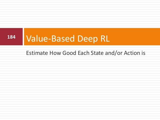 185 Value Function Approximation  Value functions are represented by a lookup table  too many states and/or actions to s...