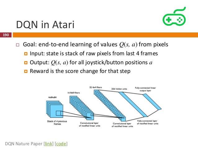 DQN in Atari 191 DQN Nature Paper [link] [code]
