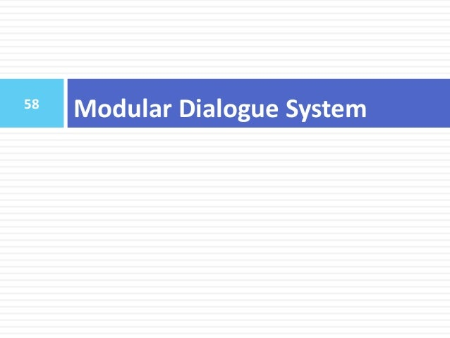 59 Outline  Introduction  Background Knowledge  Neural Network Basics  Reinforcement Learning  Modular Dialogue Syste...