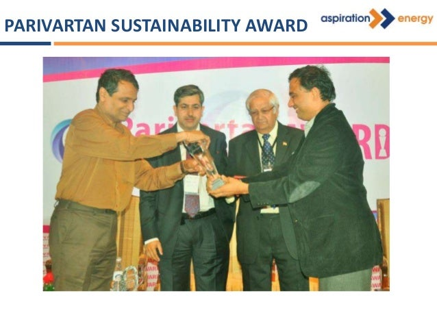 Bhoovarahan Thirumalai of Aspiration Energy was awarded by MNRE for successful development of ESCO projects under UNDP/GEF...