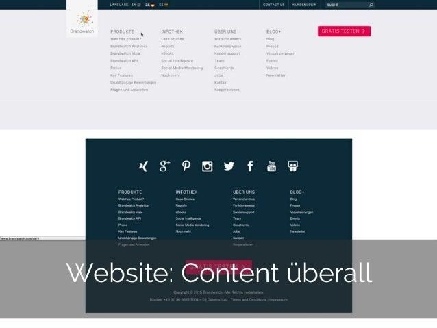 © 2014 Gnocchi Digital Marketing 19 Website: Content überall