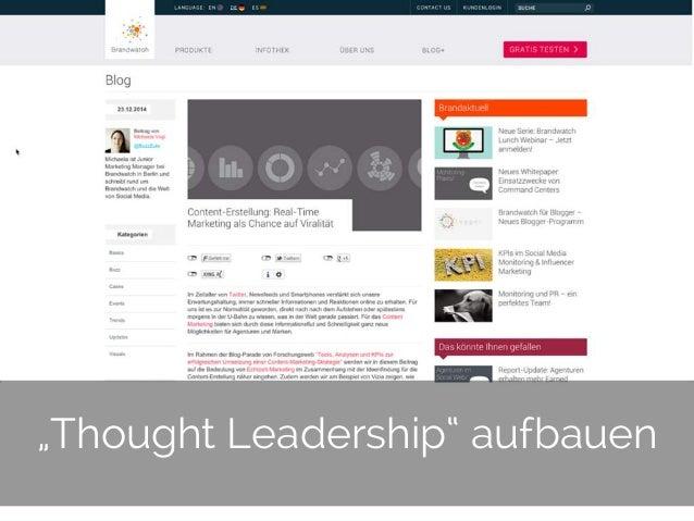 "© 2014 Gnocchi Digital Marketing 21 ""Thought Leadership"" aufbauen"