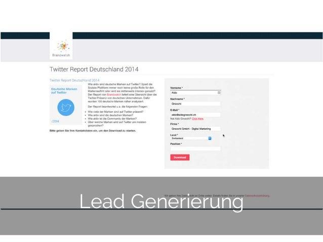© 2014 Gnocchi Digital Marketing 25 Lead Generierung